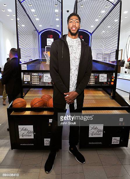 Anthony Davis attends Saks Fifth Avenue Beverly Hills launch of the exclusive Saks Fifth Avenue x Anthony Davis Collection at Saks Fifth Avenue...