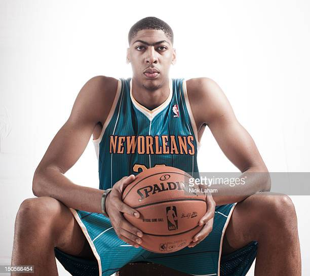 Anthony Davis of the New Orleans Hornets poses for a portrait during the 2012 NBA Rookie Photo Shoot at the MSG Training Center on August 21 2012 in...