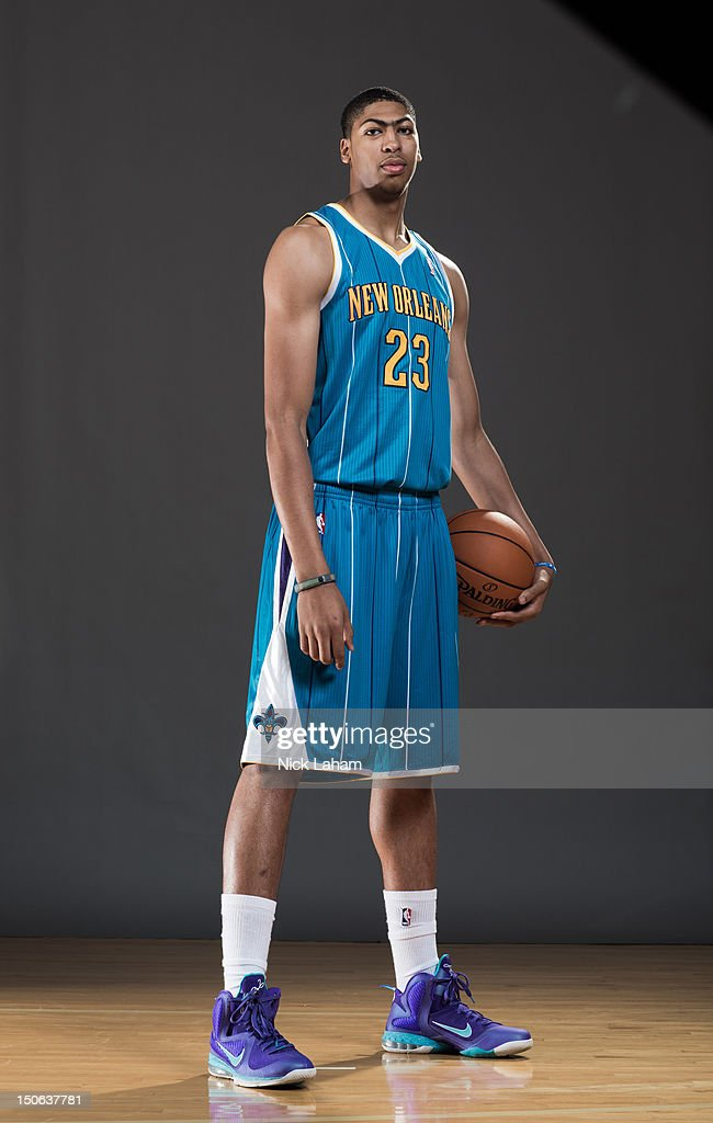 Anthony Davis #23 of the New Orleans Hornets poses for a portrait during the 2012 NBA Rookie Photo Shoot at the MSG Training Center on August 21, 2012 in Tarrytown, New York.NOTE