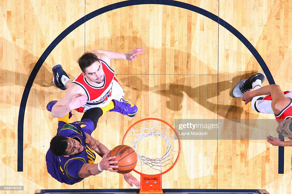 Anthony Davis #23 of the New Orleans Pelicans dunks against the Washington Wizards during the game on January 29, 2017 at Smoothie King Center in New Orleans, Louisiana.