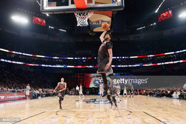 Anthony Davis of the New Orleans Pelicans dunks the ball in the first half of the 2017 NBA AllStar Game at Smoothie King Center on February 19 2017...