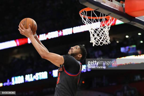Anthony Davis of the New Orleans Pelicans dunks the ball in the second half of the 2017 NBA AllStar Game at Smoothie King Center on February 19 2017...