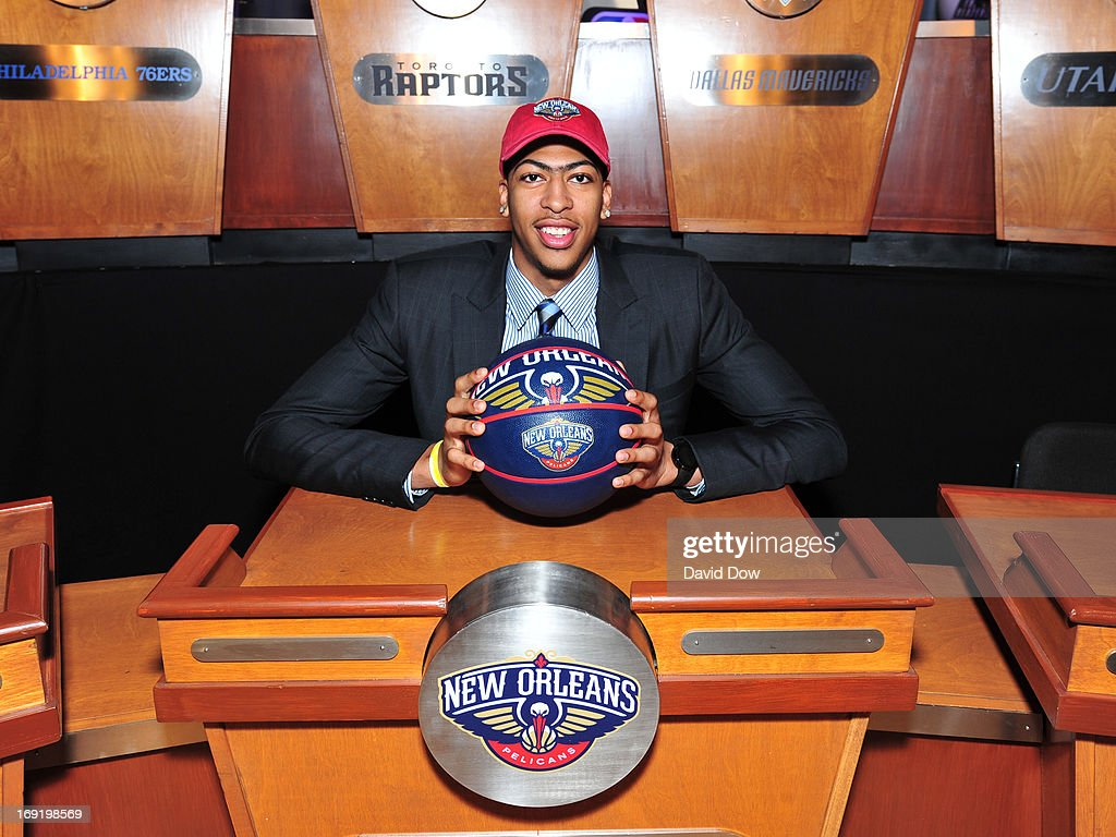 Anthony Davis of the New Orleans Pelicans poses for a photo prior to the 2013 NBA Draft Lottery on May 21, 2013 at the ABC News' 'Good Morning America' Times Square Studio in New York City.