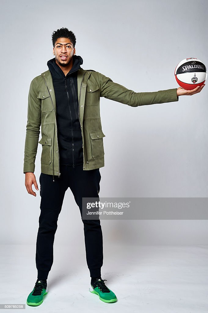 <a gi-track='captionPersonalityLinkClicked' href=/galleries/search?phrase=Anthony+Davis+-+Basketball+Player&family=editorial&specificpeople=9539354 ng-click='$event.stopPropagation()'>Anthony Davis</a> #23 of the New Orleans Pelicans poses for a portrait during NBA All-Star Weekend on February 12, 2016 at the Sheraton Centre in Toronto, Ontario Canada.
