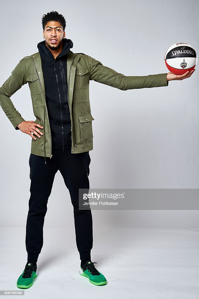 Anthony Davis #23 of the New Orleans Pelicans poses for a portrait during NBA All-Star Weekend on February 12, 2016 at the Sheraton Centre in Toronto, Ontario Canada.