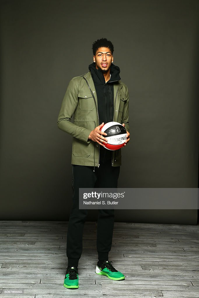 <a gi-track='captionPersonalityLinkClicked' href=/galleries/search?phrase=Anthony+Davis+-+Basketball+Player&family=editorial&specificpeople=9539354 ng-click='$event.stopPropagation()'>Anthony Davis</a> #23 of the New Orleans Pelicans poses for a portrait on February 12, 2016 at the Sheraton Centre as part of 2016 NBA All-Star Weekend in Toronto, Ontario Canada.