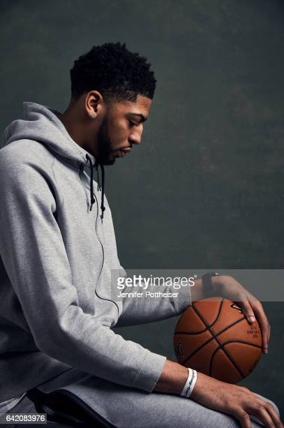 Anthony Davis of the New Orleans Pelicans poses for portraits during the NBAE Circuit as part of 2017 AllStar Weekend at the RitzCarlton Hotel on...
