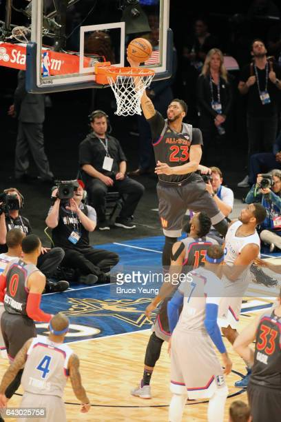 Anthony Davis of the Western Conference during the NBA AllStar Game as part of the 2017 NBA All Star Weekend on February 19 2017 at the Smoothie King...