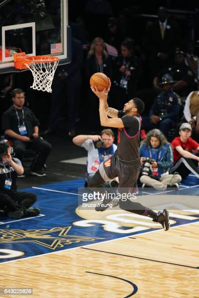 Anthony Davis of the Western Conference shoots during the NBA AllStar Game as part of the 2017 NBA All Star Weekend on February 19 2017 at the...