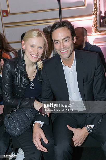 Anthony Delon and Anna Sherbinina attend the Jitrois Fall/Winter 2013 ReadytoWear show as part of Paris Fashion Week on March 6 2013 in Paris France