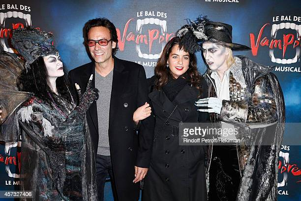 Anthony Delon and Anouchka Delon attend 'Le Bal Des Vampires' Premiere at Theatre Mogador on October 16 2014 in Paris France