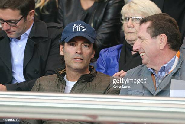 Anthony Delon and Pierre Botton attend the French Ligue 1 between Paris SaintGermain FC and Olympique Lyonnais FC at Parc Des Princes on September 21...