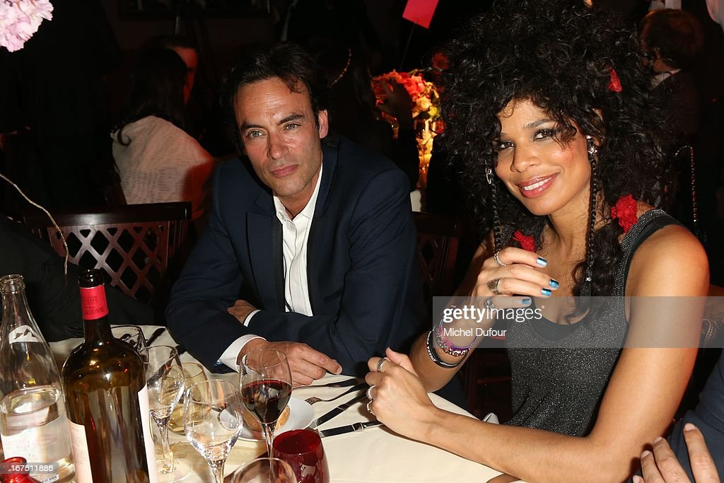 <a gi-track='captionPersonalityLinkClicked' href=/galleries/search?phrase=Anthony+Delon&family=editorial&specificpeople=2029686 ng-click='$event.stopPropagation()'>Anthony Delon</a> and Sam attend the 'Les P'tits Cracks' charity dinner at Pavillon Champs-Elysees on April 25, 2013 in Paris, France.