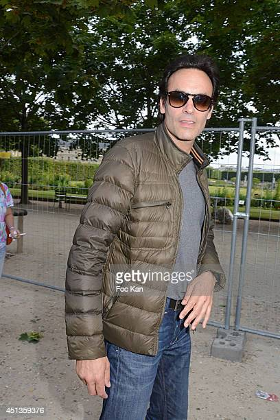 Anthony Delon attends the Fete des Tuileries' Opening Party Hosted By Marcel Campion At Jardin des Tuileries on June 27 2014 in Paris France