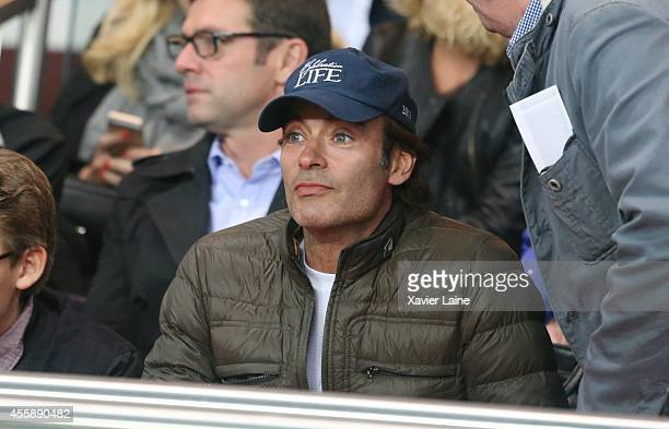 Anthony Delon attends the French Ligue 1 between Paris SaintGermain FC and Olympique Lyonnais FC at Parc Des Princes on september 21 2014 in Paris...