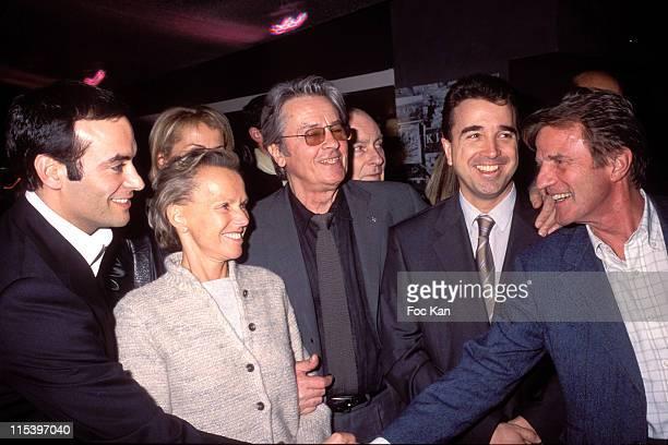 Anthony Delon Christine Ockrent Alain Delon Arnaud Lagardere and Bernard Kouchner