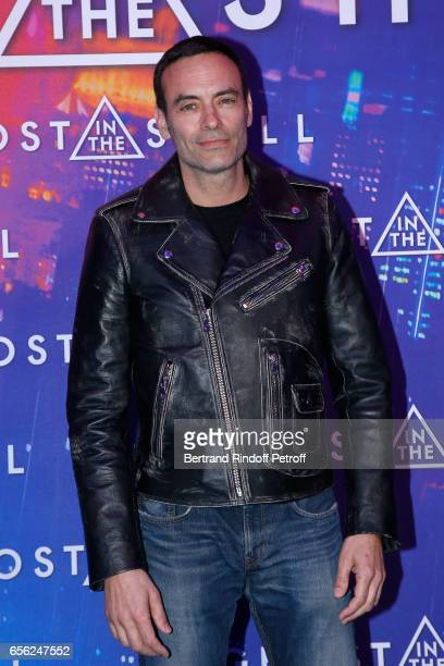 Anthony Delon dressed in his Collection attends the Paris Premiere of the Paramount Pictures release 'Ghost in the Shell' Held at Le Grand Rex on...