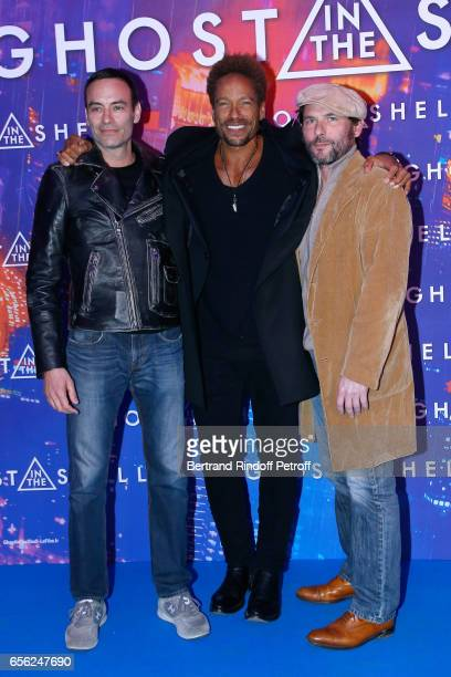 Anthony Delon Gary Dourdan and Sagamore Stevenin attend the Paris Premiere of the Paramount Pictures release 'Ghost in the Shell' Held at Le Grand...