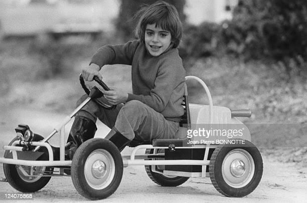 Anthony Delon gokarting In France In December 1970