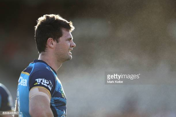 Anthony Don of the Titans looks on during the round 23 NRL match between the St George Illawarra Dragons and the Gold Coast Titans at UOW Jubilee...