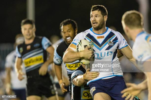 Anthony Don of the Titans runs the ball during the round eight NRL match between the Cronulla Sharks and the Gold Coast Titans at Southern Cross...