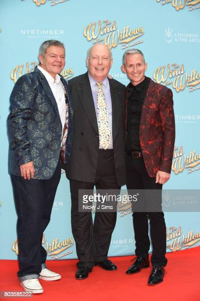 Anthony Drewe Julian Fellowe and George Stiles attend the Gala performance of Wind In The Willows at London Palladium on June 29 2017 in London...