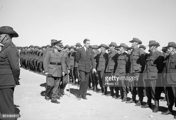 Anthony Eden arrives in Palestine during World War II 1942