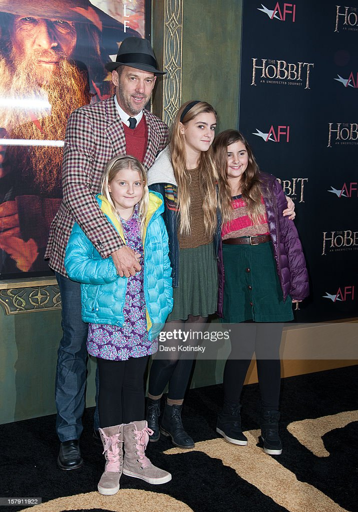 Anthony Edwards (L) and guests attend 'The Hobbit: Unexpected Journey' premiere at the Ziegfeld Theater on December 6, 2012 in New York City.