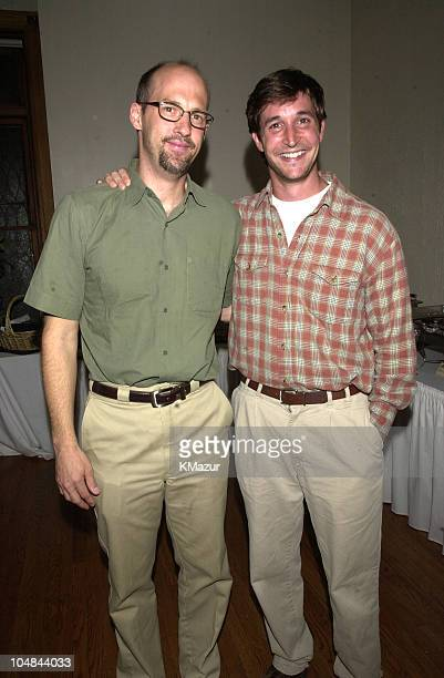 Anthony Edwards and Noah Wyle of ER during Anthony Edwards Indy 500 party for Cure Autism Now at Rathskeller at Anthony Edwards Indy 500 party for...