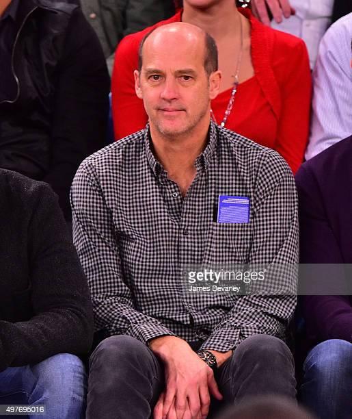 Anthony Edwards attends New York Knicks vs Charlotte Hornets game at Madison Square Garden on November 17 2015 in New York City