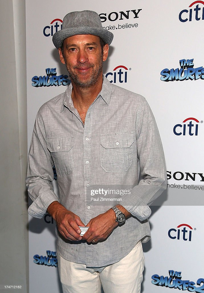 Anthony Edwards attends 'The Smurfs 2' New York Blue Carpet Screening at Lighthouse International Theater on July 28, 2013 in New York City.