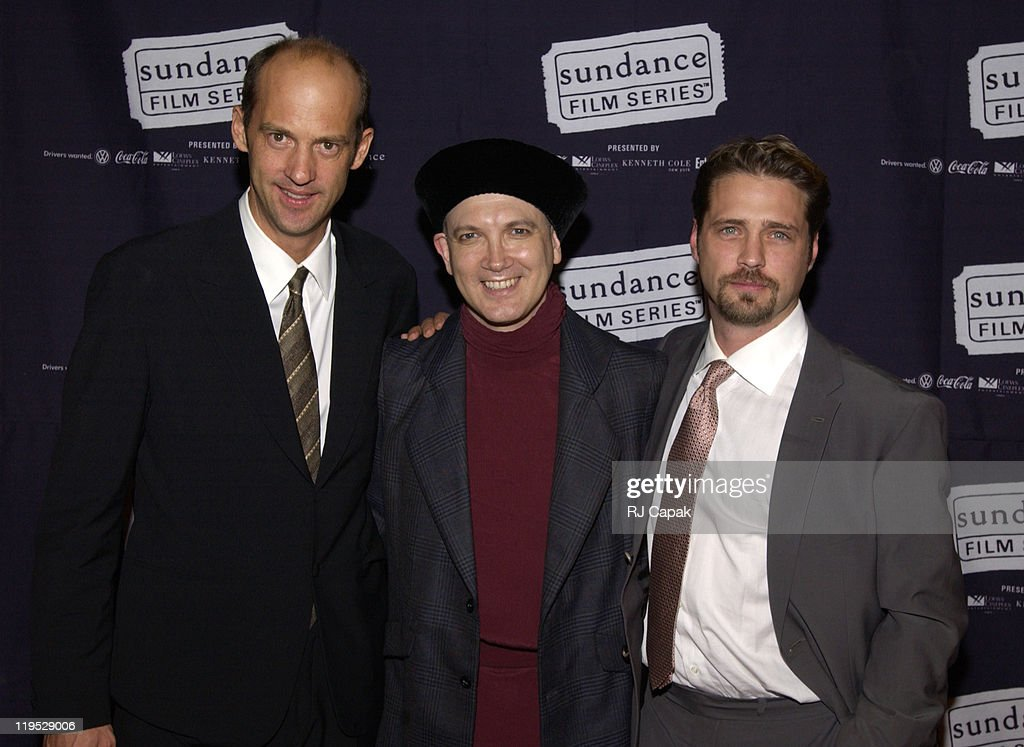 Anthony Edwards Charles Bush and Jason Priestley during 'Die Mommie Die' New York Premiere at Loew's 34th Street in New York City New York United...