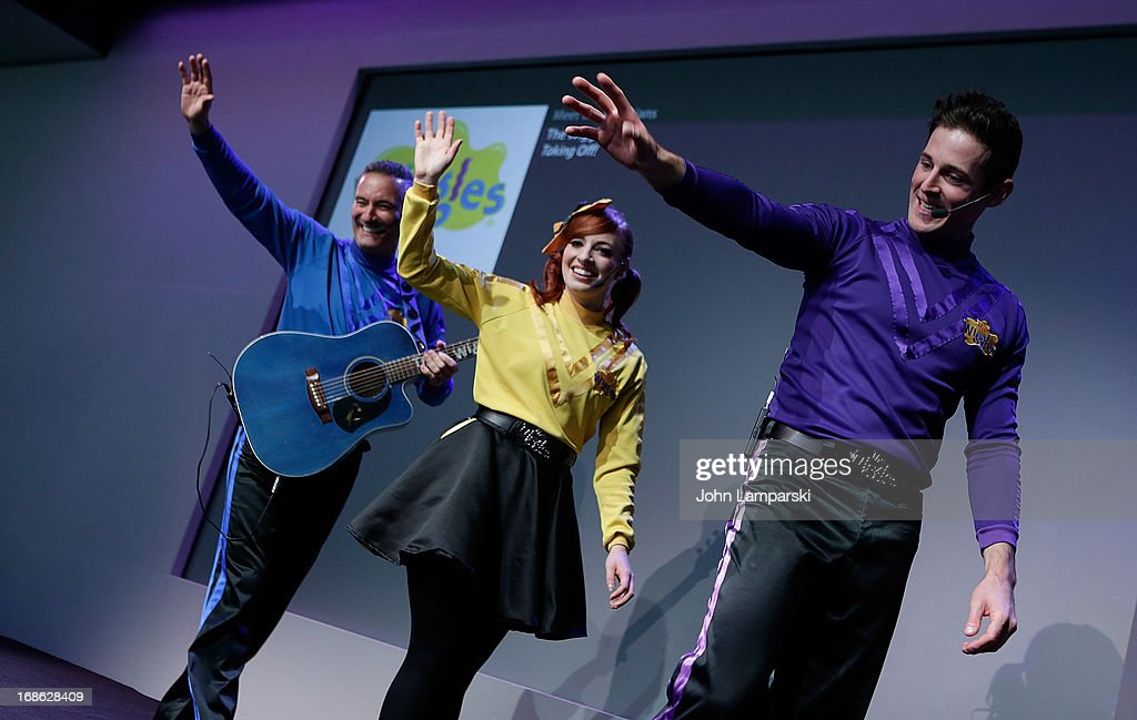 <a gi-track='captionPersonalityLinkClicked' href=/galleries/search?phrase=Anthony+Field&family=editorial&specificpeople=2237442 ng-click='$event.stopPropagation()'>Anthony Field</a> , Emma Watkins and Lachlan Gillespie of the Wiggles perform at the Apple Store Soho on May 12, 2013 in New York City.