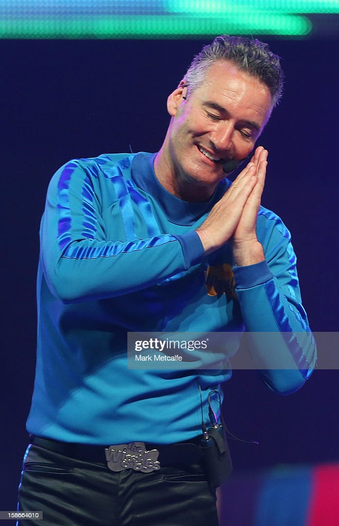 Anthony Field of The Wiggles performs on stage during The Wiggles Celebration Tour at Sydney Entertainment Centre on December 23, 2012 in Sydney, Australia. This concert is the final time the original members of The Wiggles will perform on stage together as Greg, Murray and Jeff are retiring.