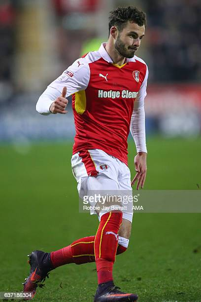 Anthony Forde of Rotherham United during the Sky Bet Championship match between Rotherham United and Burton Albion at The New York Stadium on...