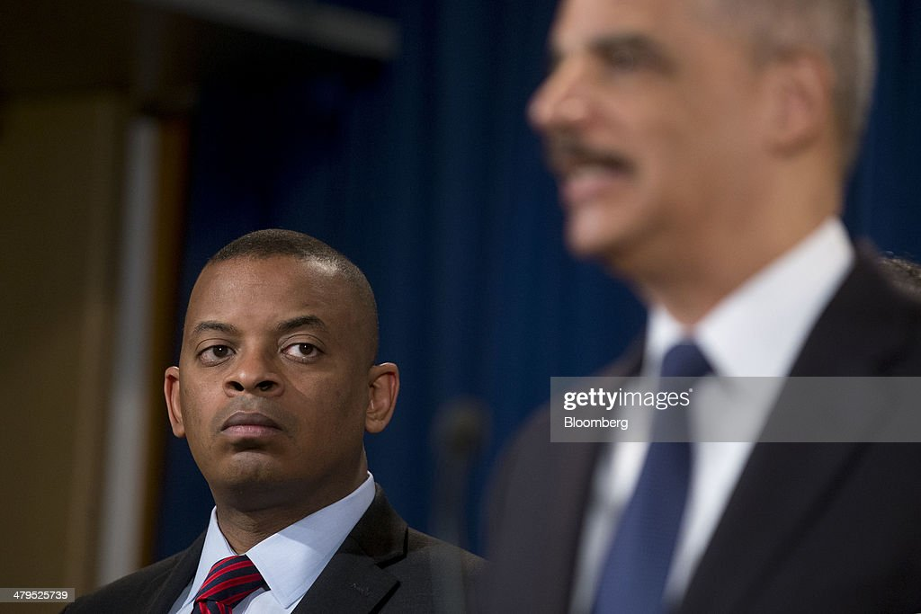 <a gi-track='captionPersonalityLinkClicked' href=/galleries/search?phrase=Anthony+Foxx&family=editorial&specificpeople=7128225 ng-click='$event.stopPropagation()'>Anthony Foxx</a>, U.S. secretary of transportation, left, looks on as <a gi-track='captionPersonalityLinkClicked' href=/galleries/search?phrase=Eric+Holder&family=editorial&specificpeople=1060367 ng-click='$event.stopPropagation()'>Eric Holder</a>, U.S. attorney general, speaks during a news conference at the Department of Justice in Washington, D.C., U.S., on Wednesday, March 19, 2014. Toyota Motor Corp. has agreed to pay a $1.2 billion penalty to end a U.S. criminal probe into sudden unintended acceleration that led to the recall of more than 10 million vehicles, the Justice Department said. Photographer: Andrew Harrer/Bloomberg via Getty Images