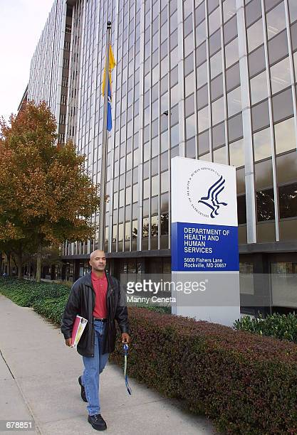 Anthony Freeman leaves the US Department of Health and Human Services building November 1 2001 which houses the Food and Drug Administration in...