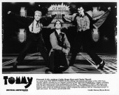 Anthony Galde Roger Bart and Clarke Thorell perform in a scene from the musical play The Who's 'Tommy' premiere at the Universal Amphitheatre in Los...