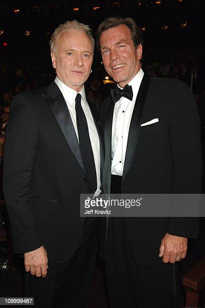 Anthony Geary and Peter Bergman during 33rd Annual Daytime Emmy Awards Backstage and Audience at Kodak Theater in Hollywood California United States