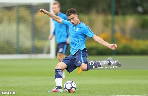 Anthony Georgiou of Tottenham during the Tottenham Hotspur training session at Tottenham Hotspur Training Centre on September 28 2017 in Enfield...