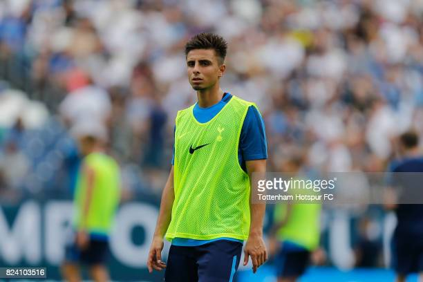 Anthony Georgiou of Tottenham Hotspur in action during the Tottenham Hotspur training session at Nissan Stadium on July 28 2017 in Nashville Tennessee