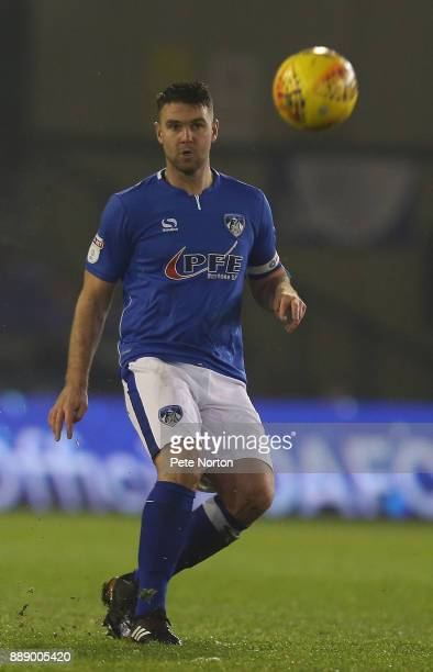 Anthony Gerrard of Oldham Athletic in action during the Sky Bet League One match between Oldham Athletic and Northampton Town at Boundary Park on...