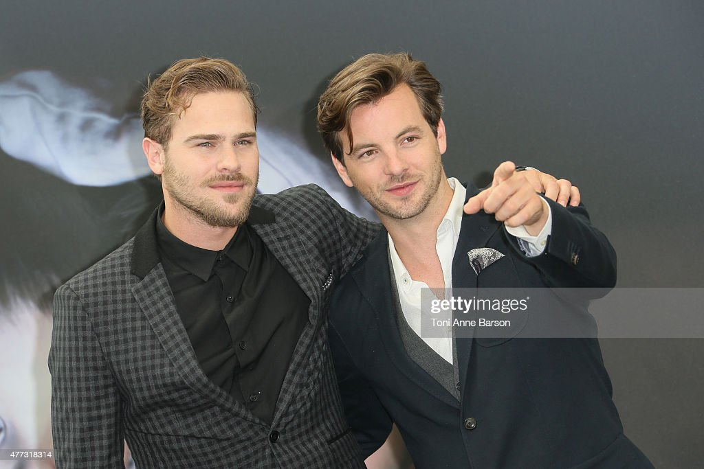 Anthony Gethin and Damon Grey attends photocall for 'Aquarius' at the Grimaldi Forum on June 16, 2015 in Monte-Carlo, Monaco.