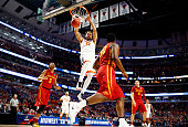 Anthony Gill of the Virginia Cavaliers dunks against the Iowa State Cyclones in the first half during the 2016 NCAA Men's Basketball Tournament...