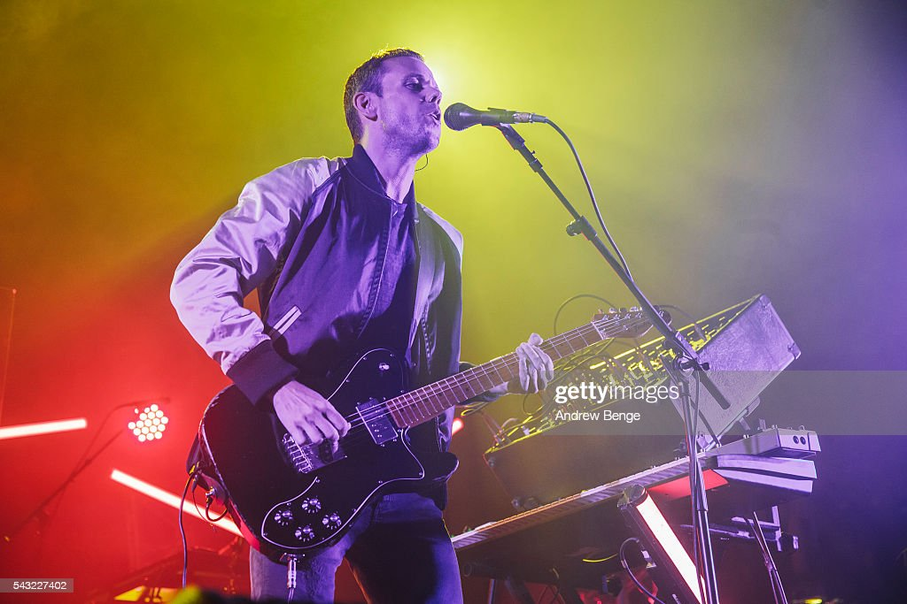 Anthony Gonzalez of M83 performs on stage at The O2 Ritz Manchester on June 26, 2016 in Manchester, England.
