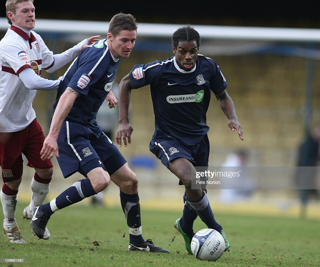 Anthony Grant of Southend United in action during the npower League Two match between Southend United and Northampton Town at Roots Hall on February 26, 2011 in Southend, England.