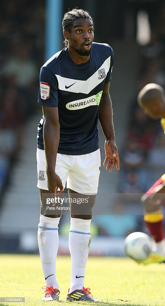 Anthony Grant of Southend United in action during the npower League Two match between Southend United and Northampton Town at Roots Hall on September 3, 2011 in Southend, England.