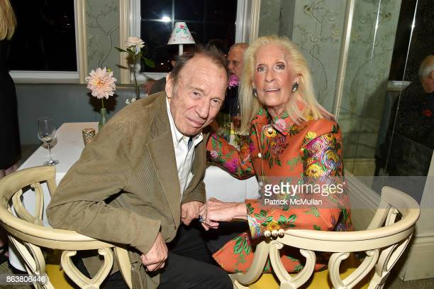 Anthony HadenGuest and Cynthia Frank attend the launch of Second Bloom Cathy Graham's Art of the Table hosted by Joanna Coles and Clinton Smith at...