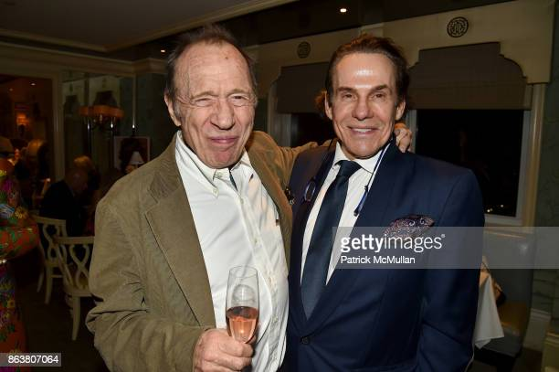 Anthony HadenGuest and R Couri Hay attend the launch of Second Bloom Cathy Graham's Art of the Table hosted by Joanna Coles and Clinton Smith at...