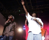 Anthony Hamilton and Jadakiss during 2004 MTV Video Music Awards Block Party Night 2 at Club Row in Miami Florida United States
